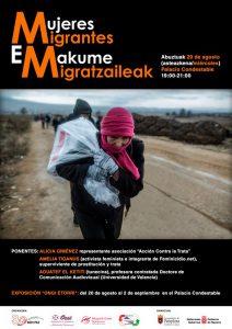 Mujeres migrantes-Emakume migratzaileak (mesa redonda) @ Palacio del Condestable