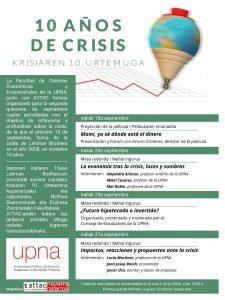 10 años de crisis/Krisiaren 10 urtemuga @ Upna, aula 9.