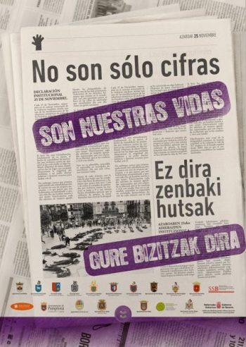Día Internacional de la Eliminación de la Violencia contra la Mujer @ Plaza del Castillo