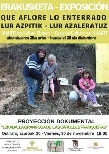 """Exposición """"Lur azpitik lur azaleratuz, Que aflore lo enterrado"""" @ Casa de Cultura de Huarte"""