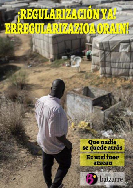 ¡Regularización ya! Batzarre se suma a la campaña estatal #RegularizacionYa