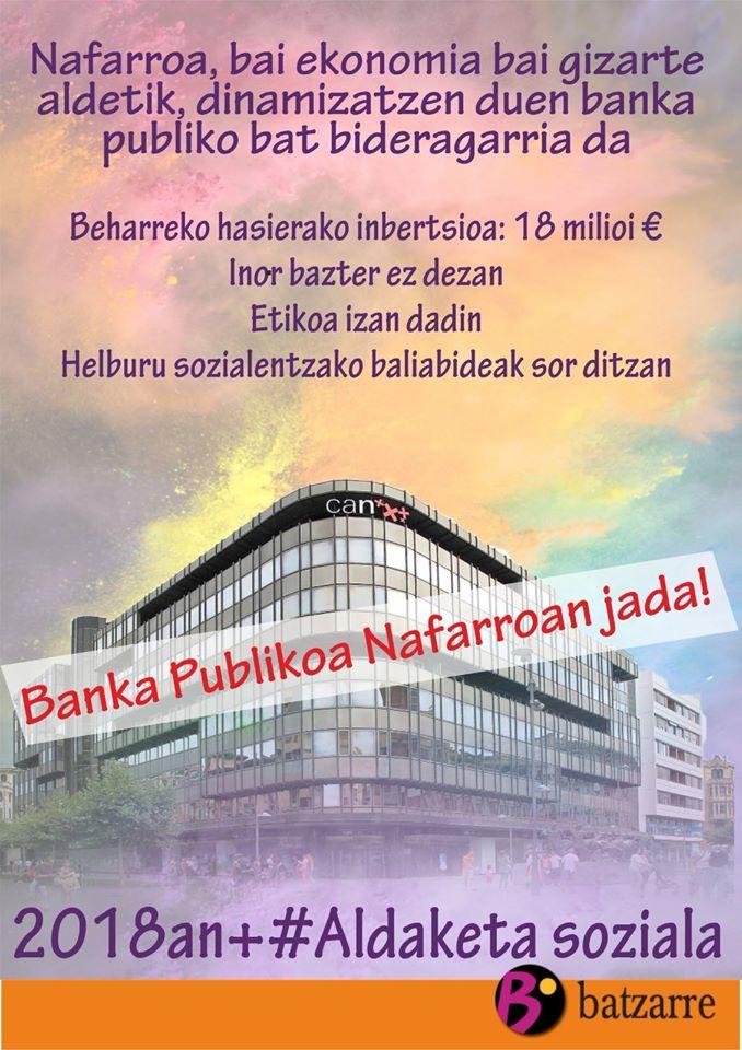 Campaña de impulso a la Banca Pública.