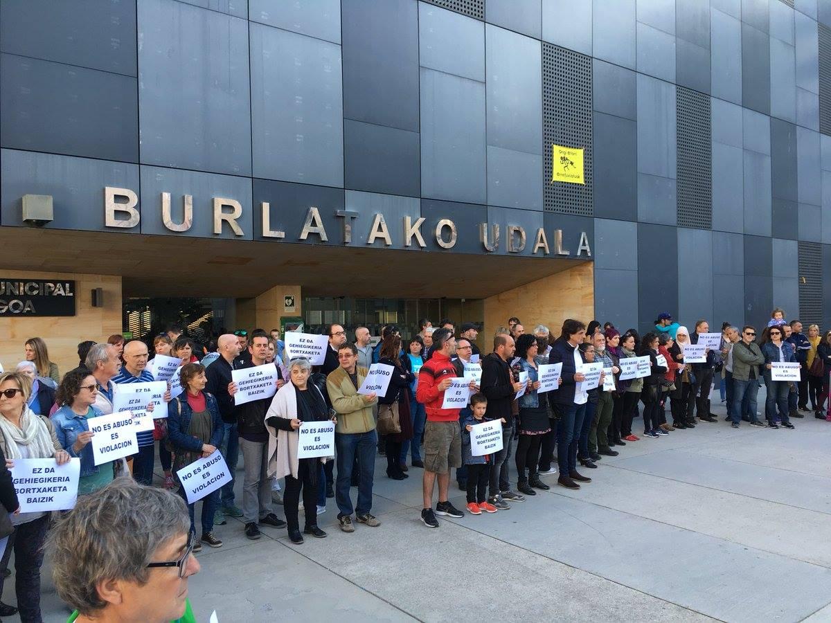 Burlatako Udala. No es abuso, es violación.