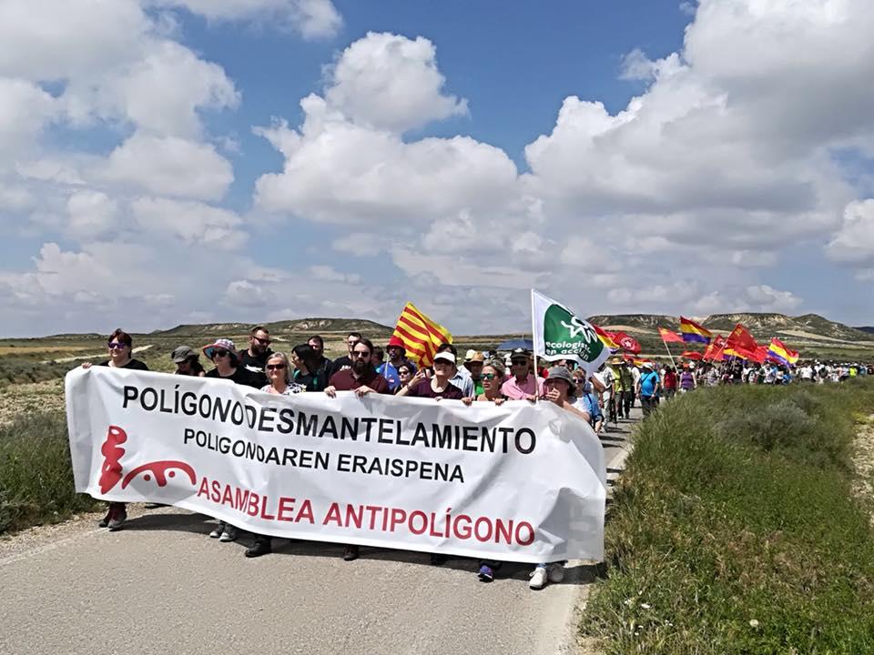 Marcha a las Bardenas Junio 2018. Asamblea Antipolígono.