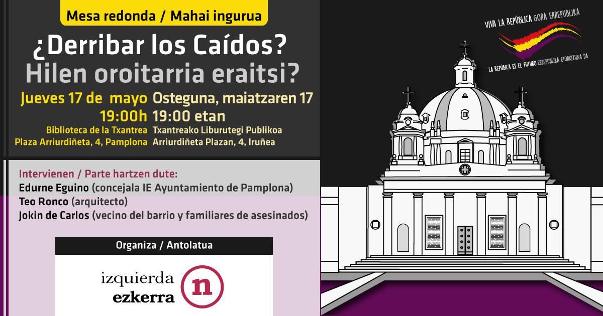 Campaña Por el Derribo de los Caídos. Charla en Iruña.