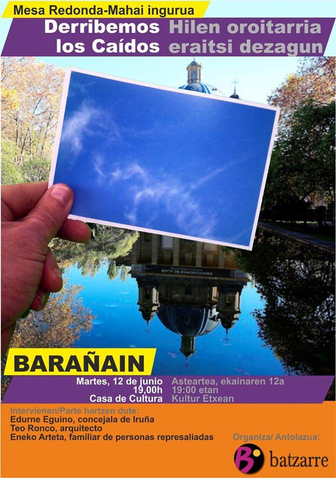 Campaña Por el Derribo de los Caídos. Charla en Barañain.