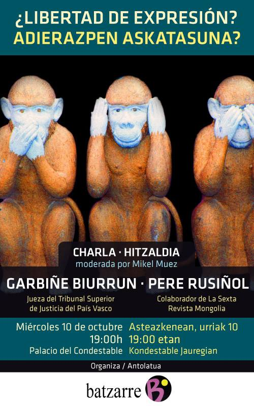 Charla sobre Libertad de Expresión. Con Garbiñe Biurrun y Pere Rusiñol.