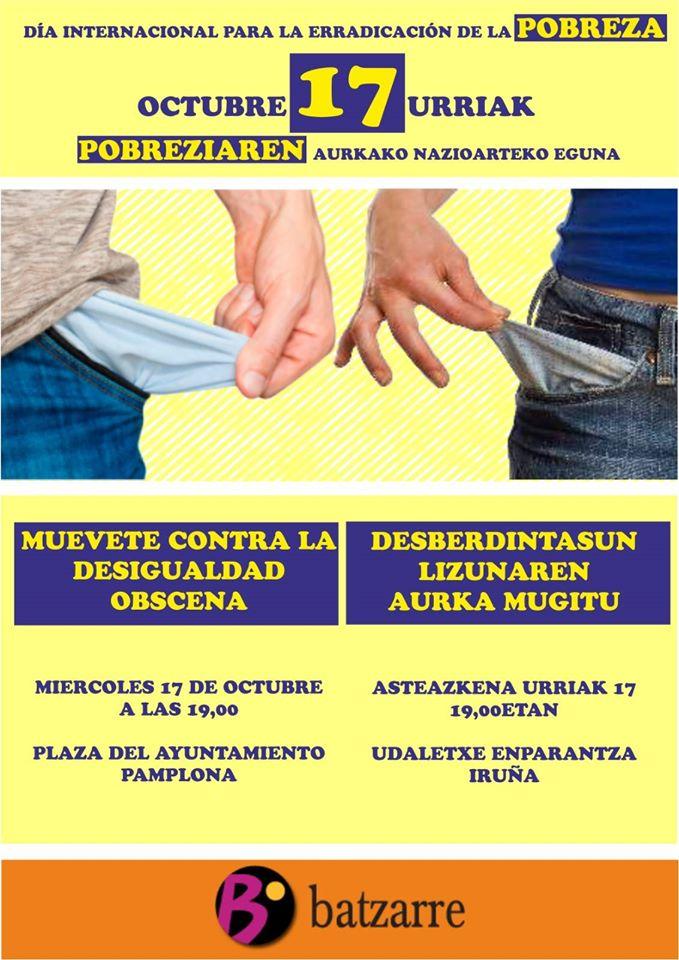 17 octubre, día de Erradicación de la pobreza.