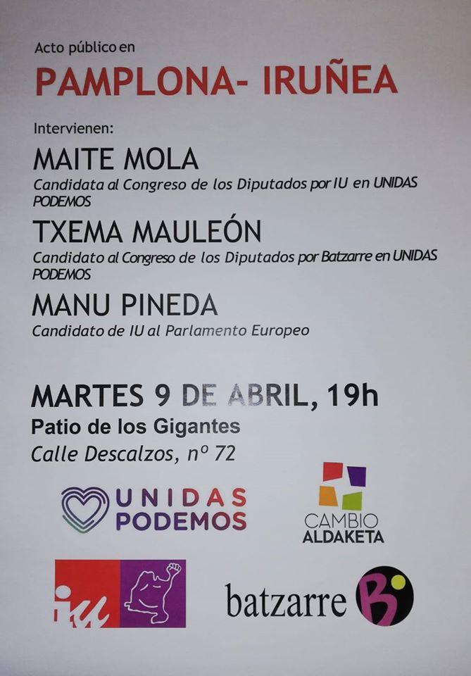 Acto electoral Generales y Europeas Abril 2019.