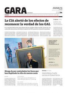 Portada Diario Gara 16 Junio 2020
