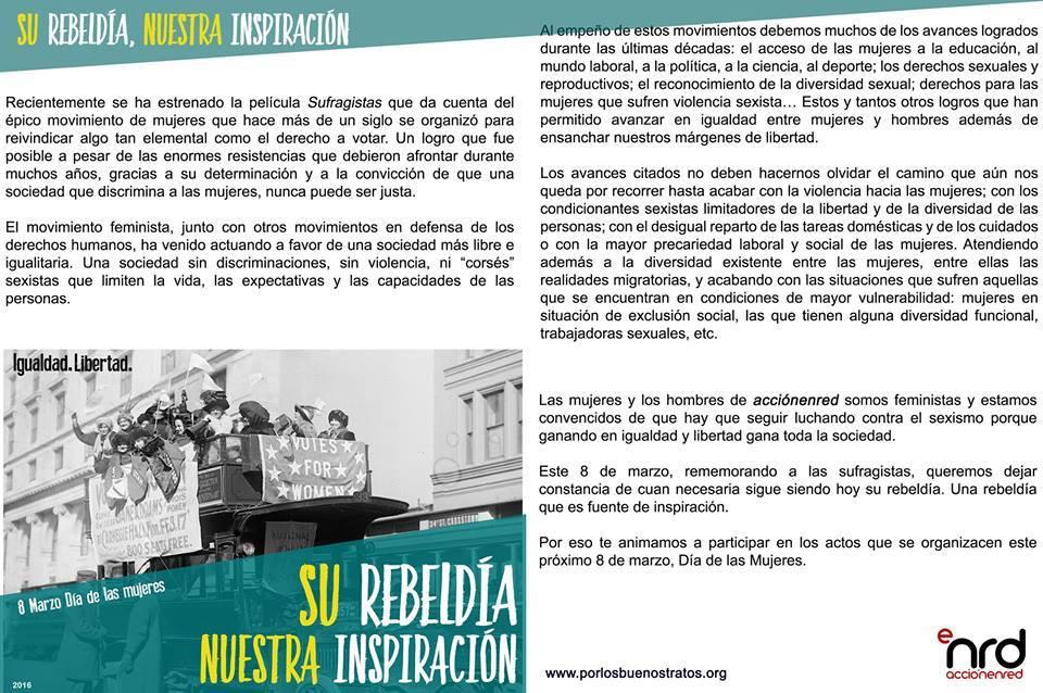 Campaña 8M de AcciónEnRed.
