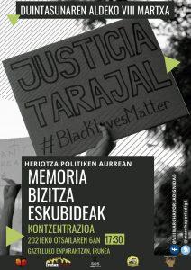 Marcha por la Dignidad. Concentración Tarajal. @ Plaza del Castillo, Iruña
