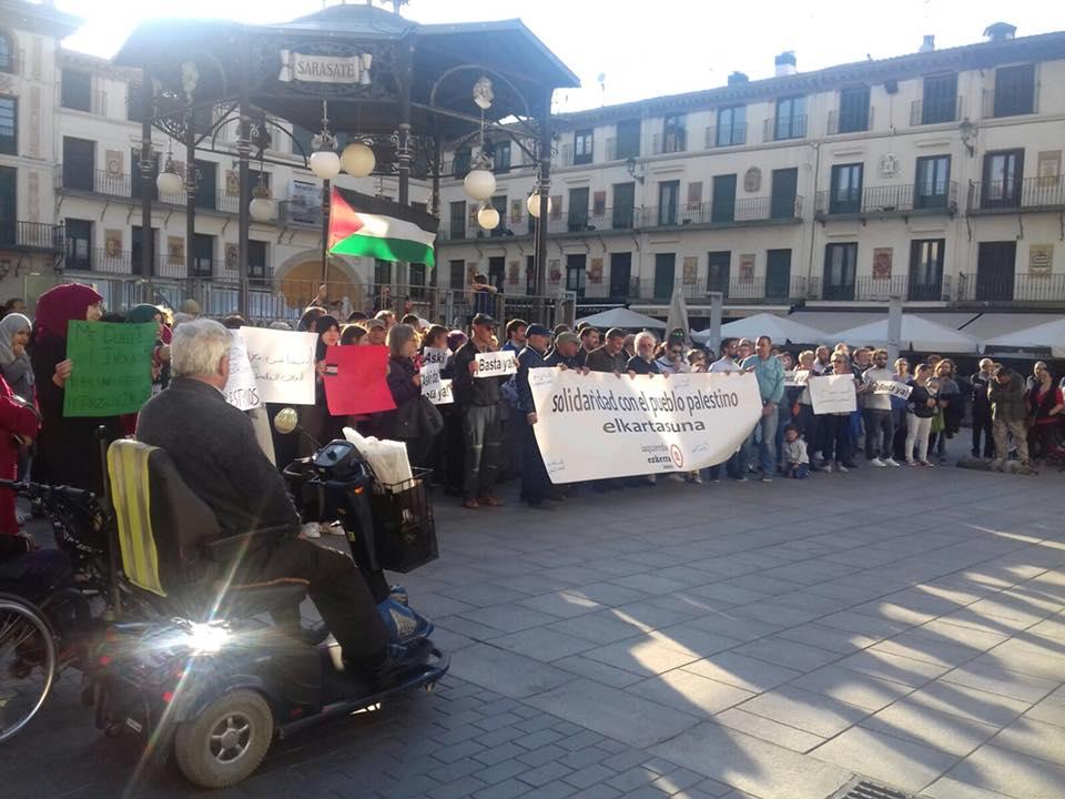Concentración en solidaridad con el pueblo Palestino. Tudela. Mayo 2018