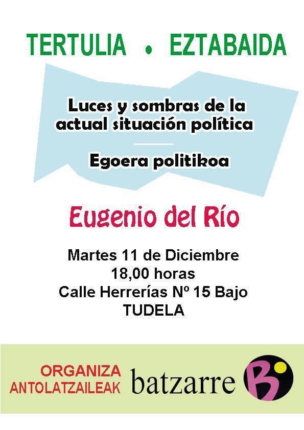 Charla Eugenio del Río. Tudela. Diciembre 2018.