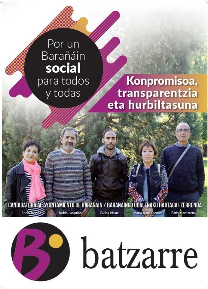 Candidatura Municipal Barañain. Mayo 2019.