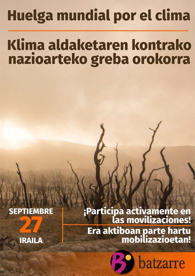 Klima Aldaketaren kontrako nazioarteko Greba Orokorra.