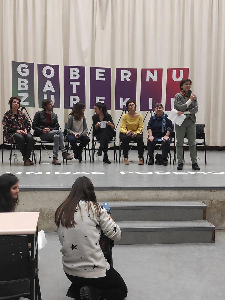 Acto electoral Unidas Podemos. Con Edurne Eguino.