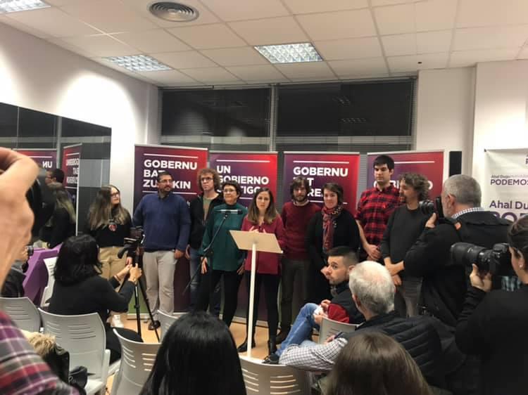 Acto electoral Unidas Podemos.