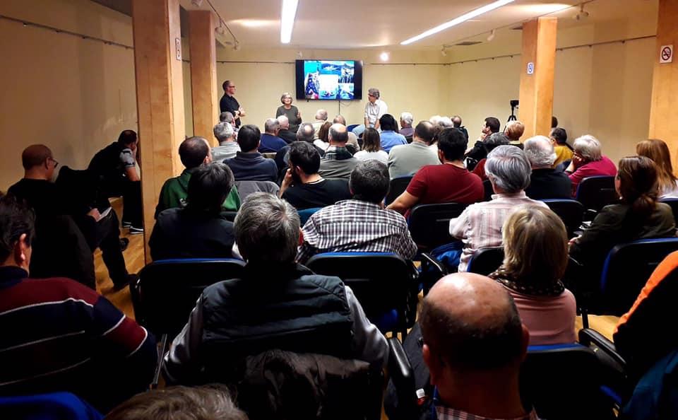 Tudela Febrero 2020. El director de Greenpeace en España, Mario Rodriguez Vargas y representantes de la Asamblea Antipolígono.