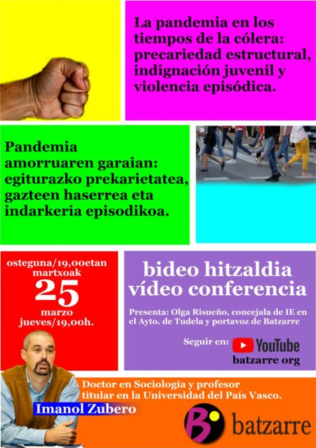 Imanol Zubero sobre juventud, pandemia y respuestas.